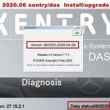 Système professionnel de logiciel xentry/DAS, installation ou mise à niveau en ligne, par équipe visionneuse, 2020.06 mo STAR sd C4/C5/C6, windows 10, 64 bits