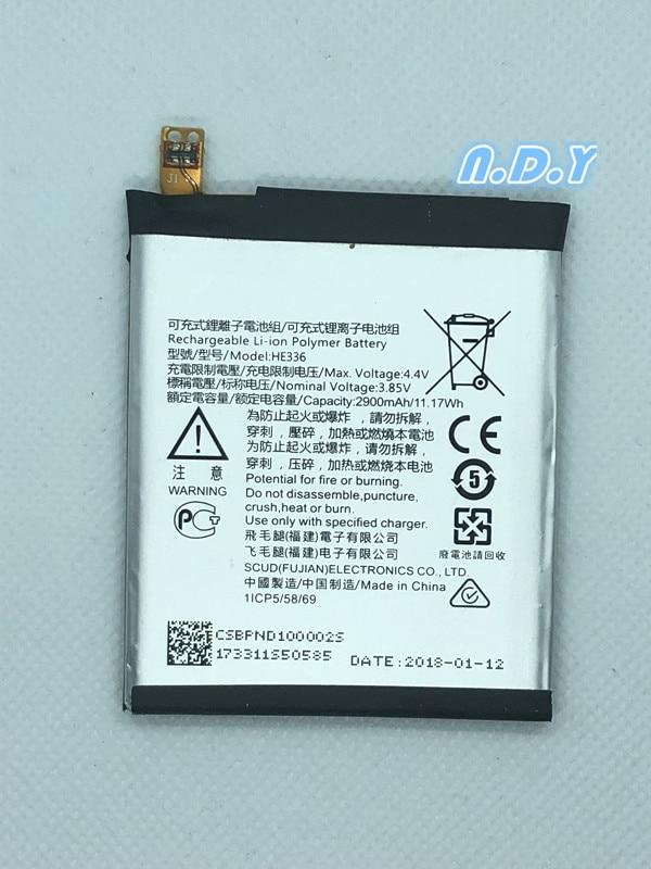 Original  HE336 2900mAh Battery For Nokia 5 Dual SIM, 5 Premium Edition Dual SIM, HMD Heart, Nokia 5, TA-1044