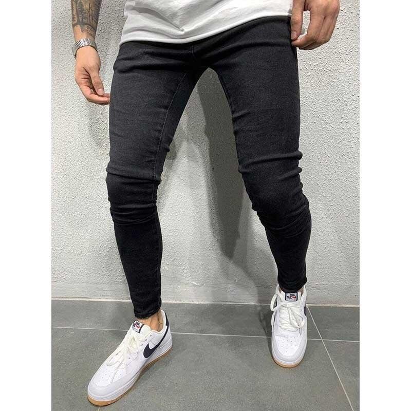 2020 New Men's Jeans Black Classic Fashion Designer Denim Skinny Jeans Men's Casual High-quality Slim Hip-hop High Street Jeans