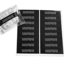 160pcs/lot Black HANDMAND pattern Rectangular Sealing Sticker DIY Gift Package Decorative Paper Label Stickers Scrapbooking