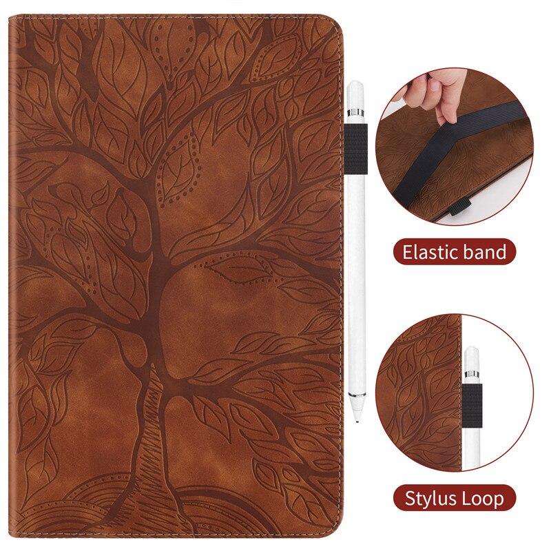 Wallet Stand-Tablet Coque Pro for iPad Emboss-Tree Flip-Case 11 Funda