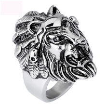 Luxury new lion design ring jewelry titanium steel finger rings casting for man free shipping