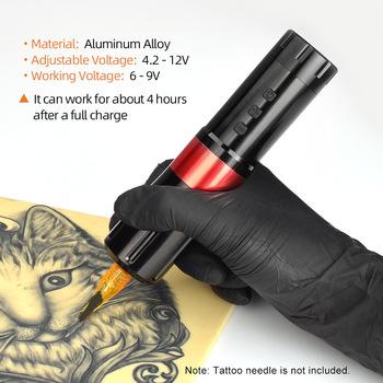 Wysokiej jakości akumulatorowa maszynka do tatuażu uniness Machine profesjonalny bezprzewodowy pisak do tatuażu dla artystów tatuażu akcesoria do tatuażu tanie i dobre opinie Ze stopu Elektryczne
