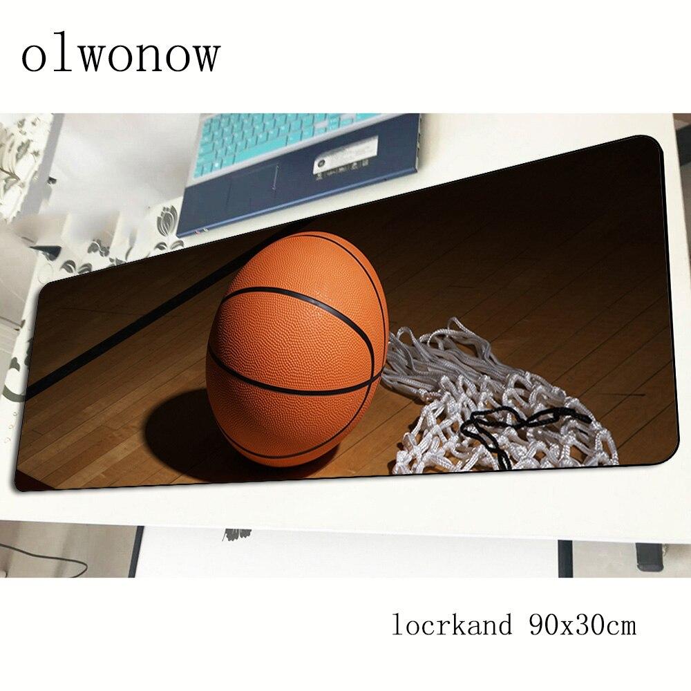Коврик для мыши в баскетбольном стиле, мультяшный игровой компьютерный коврик для мыши 90x30 см, подставка под мышь Indie Pop, эргономичный гаджет, коврики для офисного стола-2