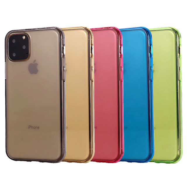 Comanke Transparent Candy Color Silicone Cases for iPhone 11/11 Pro/11 Pro Max