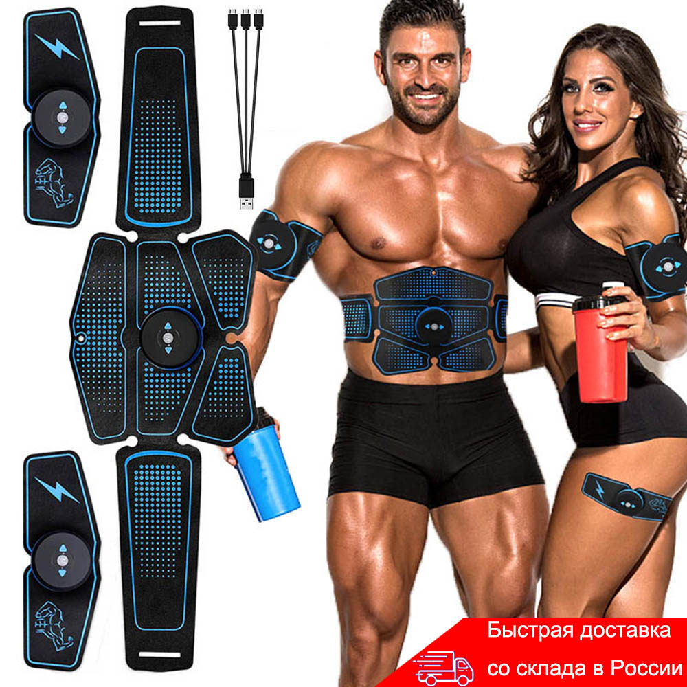 Abdominal Muscle Stimulator Trainer EMS Abs Fitness Equipment Training Gear Muscles Electrostimulator Toner Exercise At Home Gym(China)