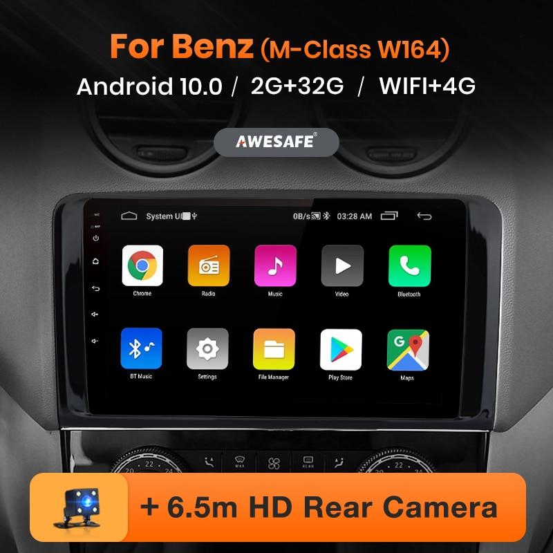 AWESAFE PX9 2 Din Android 10 Mercedes Benz GL ML W164 GL320 ML350 ML500 X164 GL350 GL450 2005 - 2012 araba radyo GPS 2din DVD
