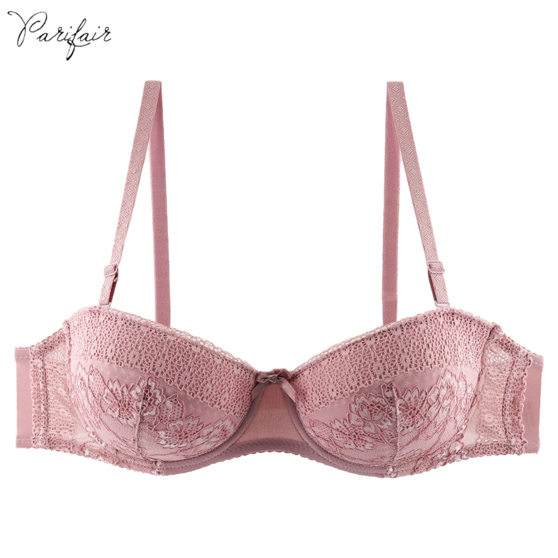 PariFairy Floral Lace Cotton Convertible Straps Bra Sexy Bh Comfort Fit Underwear Women Sheer Half Cup Bras Female Brassiere