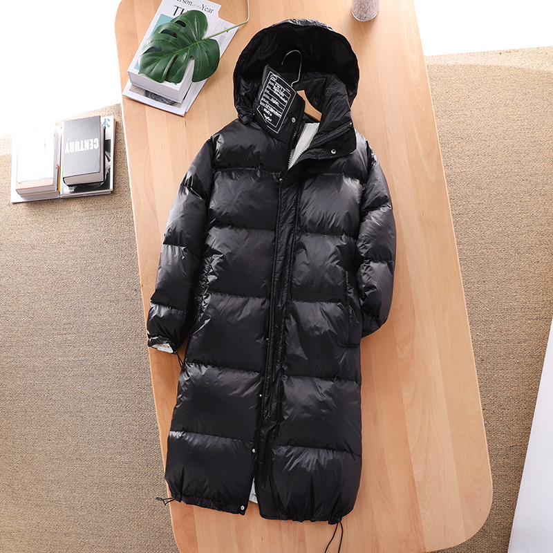 Women's Down Jacket Winter Coat 90% White Duck Down Jacket Women Warm Parka Long Down Coats And Jackets Hooded 6532