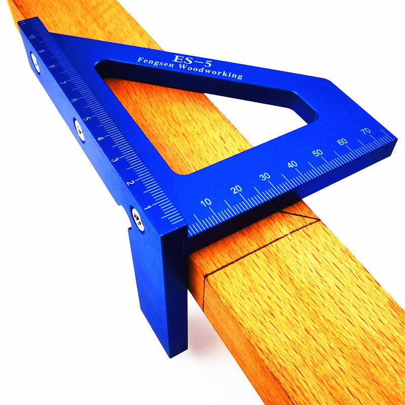 Woodworking Ruler Square Layout Miter Triangle Ruler 45 Degree 90 Degree Metric Gauge Toohr Measure Tools Woodworking Tools