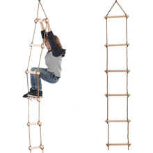 new 10m folding soft ladder fire rescue equipment escape ladder life saving ladder aluminum alloy wire rope ladder for climbing 5 Wooden Rungs PE Rope Ladder Children Climbing Toy Kids Sport Rope Swing Safe Fitness Toys Equipment Indoor Outdoor Garden Ma14