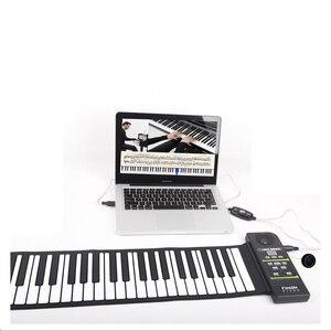 Складное пианино для путешествий, 88 клавиш, гибкая мягкая электрическая клавиатура для пианино для детей и взрослых