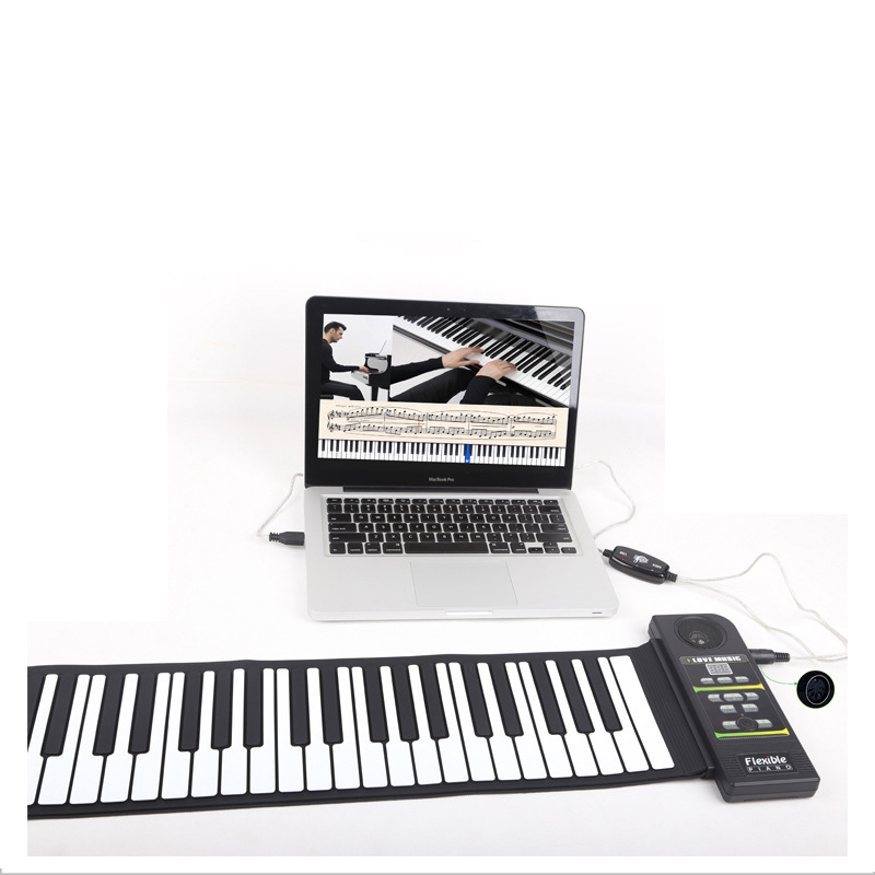 Travel Piano Foldable 88 Keys Flexible Soft Electric Digital Roll Up Piano Keyboard for Kids and Adults