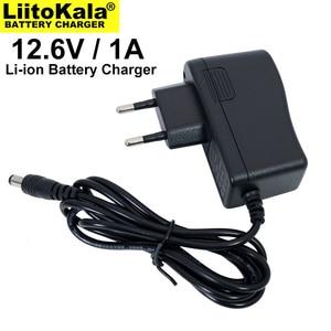 Image 3 - 1 10 pces liitokala 12,6 v 1a carregador de bateria de lítio 3s 12v bateria 100 240v carregador dc cabeça é 5,5*2,1mm
