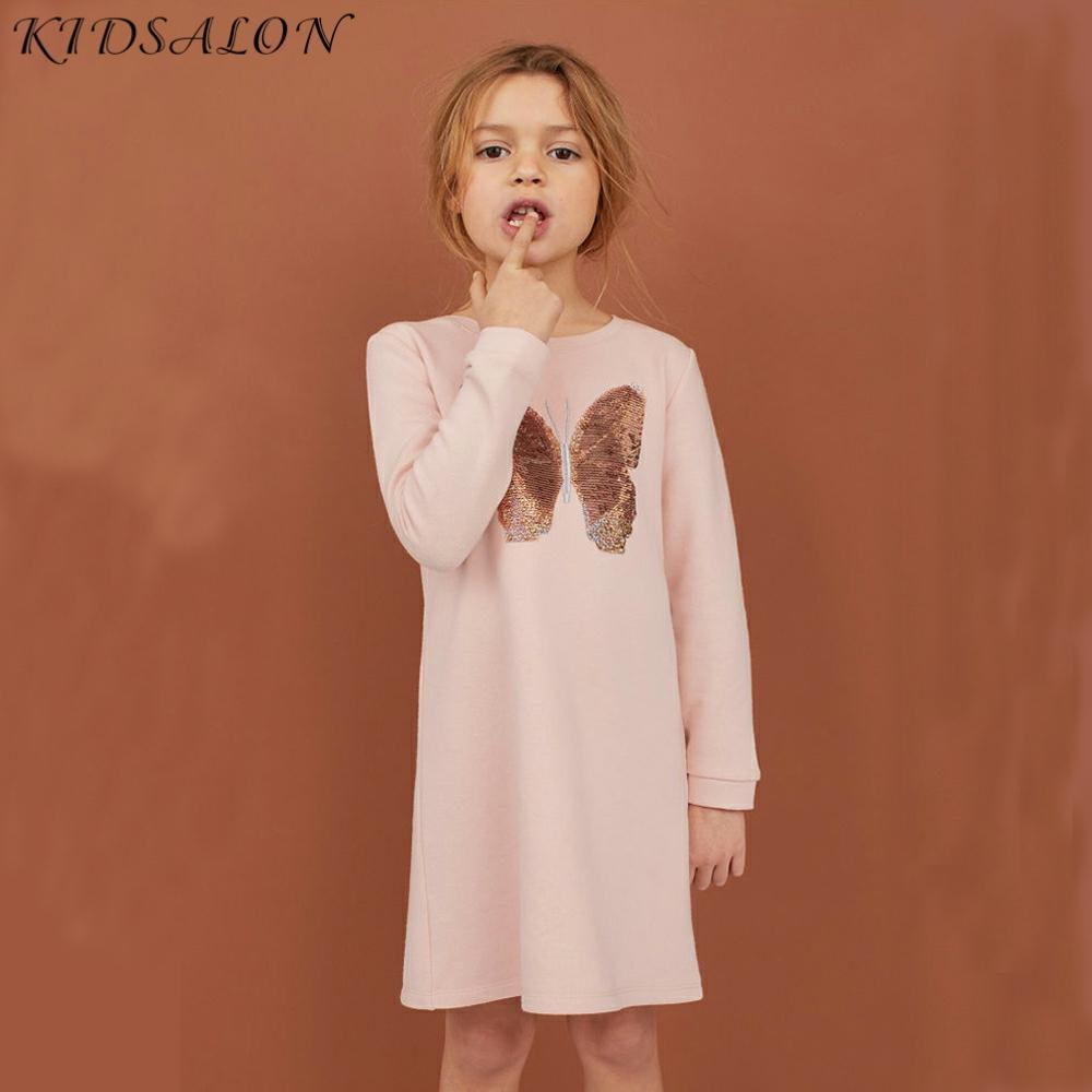 Baby Girl Dress Heart Butterfly Reversible Sequines Kids Party Dresses for Girls Clothes Autumn Winter Children Princess Dress|brand girl dress|girls brand dressgirls dress - AliExpress