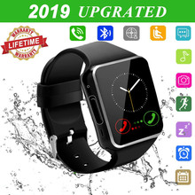 Touchscreen with Camera Bluetooth Watch Phone with SIM Card Slot Watch Cell Phone Compatible Android Samsung iOS Phone XS X8 7 6 умные часы casmely intelligent bluetooth watch phone apply to samsung android phone systems such as millet ik08 black casmely ik08