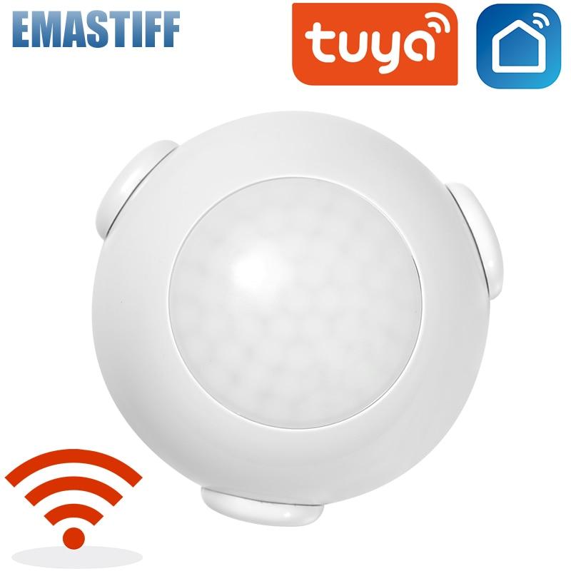 Sensor de alarme doméstico inteligente, sensor de movimento pir wifi com detector de corpo humano, sistema de alarme para casa, sensor de movimento pir, vida inteligente tuya com vida inteligente ifttt