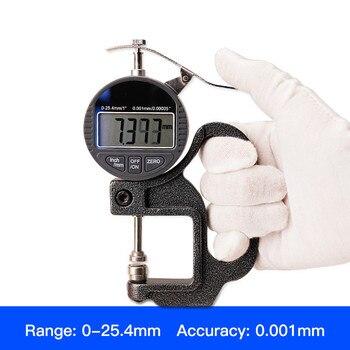 Digital display thickness gauge 0-25.4mm 0.001mm Thickness Gauge thickness meter paper film thickness tester