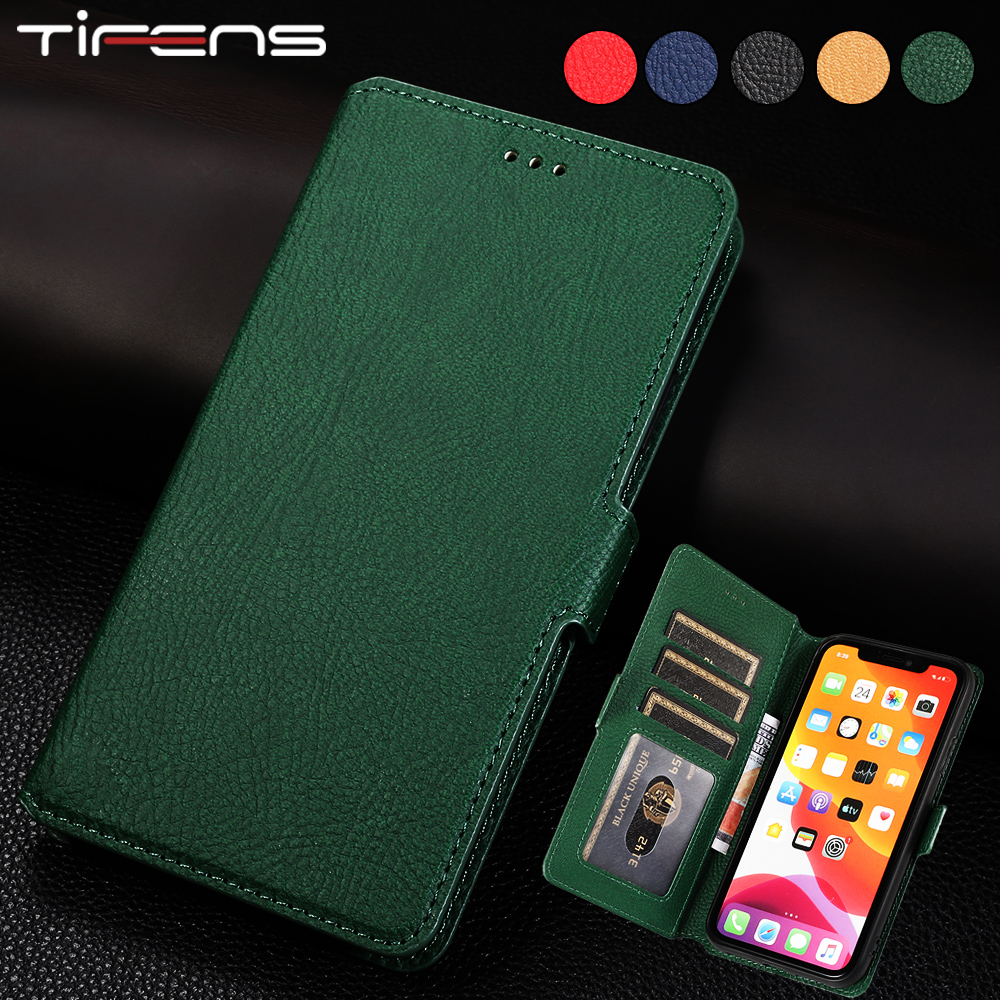 Luxury Leather Flip Wallet Case For iPhone SE 2020 Coque For iPhone 11 Pro XS Max X XR 8 7 6s 6 Plus Card Slots Phone Cover Etui(China)