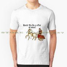 Hark! A In N Out! Conception Cool T-Shirt à la mode T-Shirt en N Out nourriture Hamburger amour rapide Burger frites animaux frites californie(China)