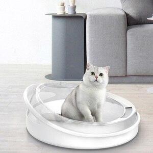Kuweta dla zwierzaka Bedpan przeciw rozpryskom koty kuweta Cat Dog Tray Kitten Dog Clean toaleta strona główna plastikowe pudełko z piaskiem dostarcza Pet Tray Fe25