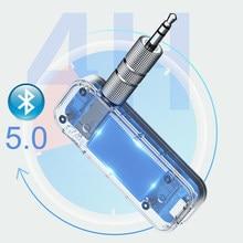 Jinserta bluetooth 5.0 receptor transmissor 3.5mm aux hardsfree adaptador de áudio para o carro casa tv fones de ouvido