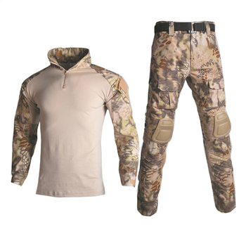 Military Uniform Tactical Camouflage Clothes Suit Men US Army Clothing Women Airsoft Military Combat Shirt Cargo Pants Knee Pads 12