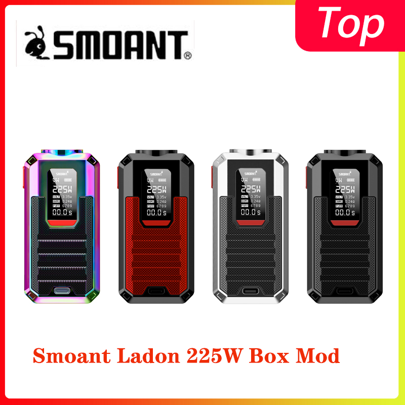 Newest Smoant Ladon 225W Box Mod Powered By Dual 18650 Batteries With Max 225W Output Vape Mod