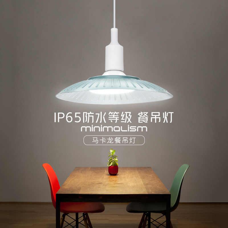 Loft industrial wind pot cover Nordic restaurant hair salon office factory warehouse makalon LED Chandelier