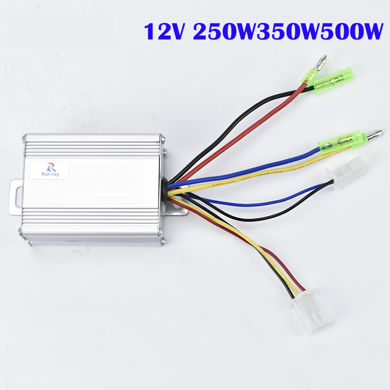 12V 250W/350W/500W DC Electric Bike Motor Brushed Controller Box for Electric Bicycle Scooter Controller