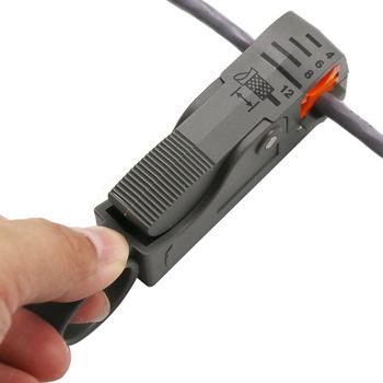 Automatyczne szczypce do obcinania wielofunkcyjne narzędzia do zdejmowania izolacji z drutu narzędzia do zdejmowania izolacji z klucz sześciokątny tanie i dobre opinie Halojaju Metalworking Stal węglowa Proste Chiński Wielofunkcyjny LM47 Decrustation Szczypce Wire Stripper Wire Stripping Pliers