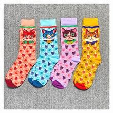 4 Pairs Hot Sale Colorful Women's Cotton Cute Cartoon Socks