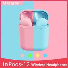 Wireless Headphons Macaron i12 tws HIFI Bluetooth Earphone Wireless Bluetooth Earphone for All Smart Phone Sport Earbuds Headset
