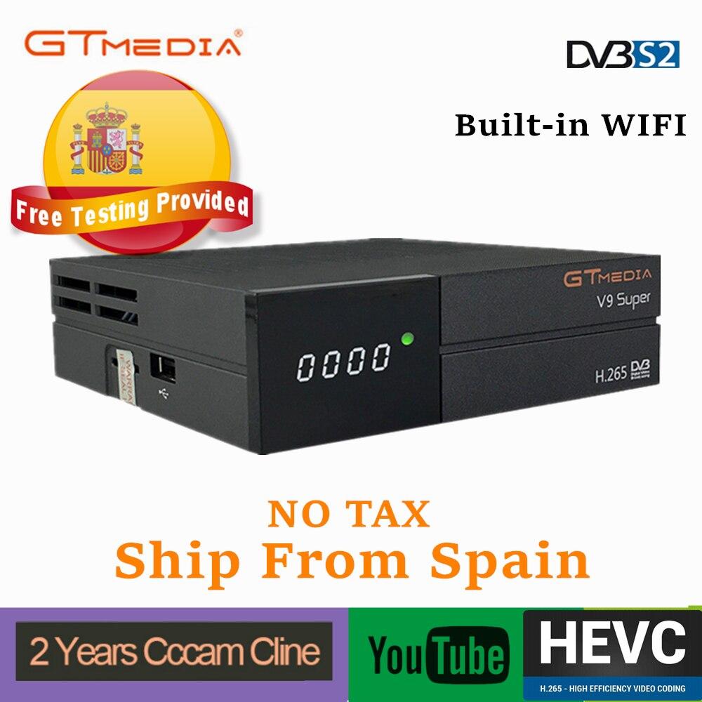 GTmedia V9 Super Digital TV Satellite Receiver DVB-S2 H.265 DRE &Biss Key 2 Year Spain CCCAM PK Freesat V7 V8 X96 H96 X96 Mini