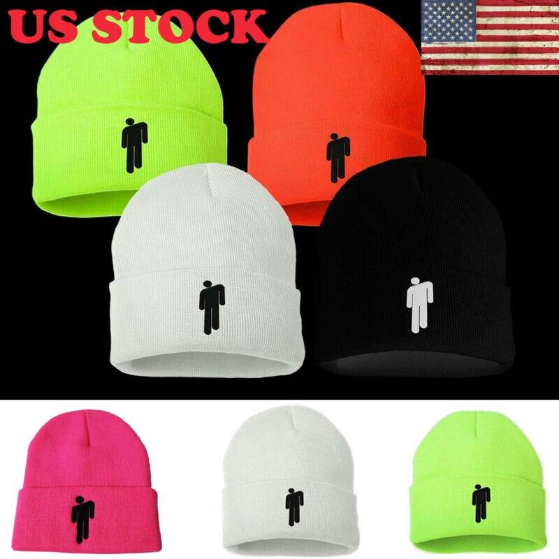 New Fashion US  5 COLOR Billie Eilish Women Men Unisex Beanie Stickman Knit Cap Hat Bonnet