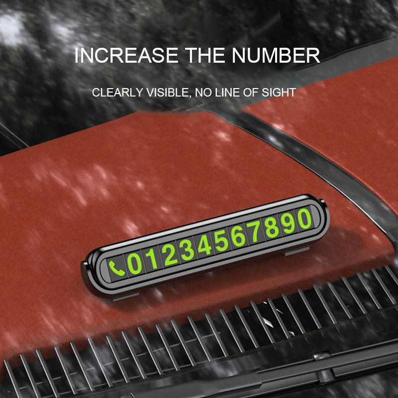 Image 5 - Hidden Temporary Car Parking Card with Aromatherapy Telephone Number Card Luminous Phone Number Card Plate for Car Accessories-in Car Stickers from Automobiles & Motorcycles