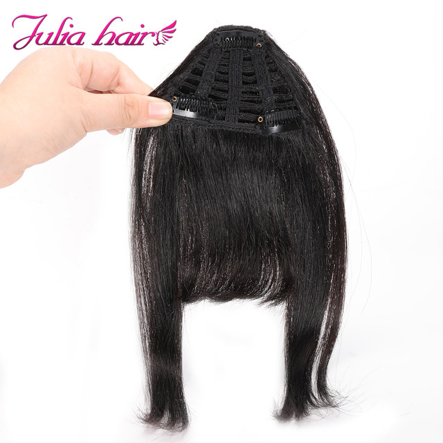 Ali Julia Air Bangs For Women Clip In Hair Extensions Brazilian Human Hair Bangs Remy Replacement Fringe Hairpiece (6)