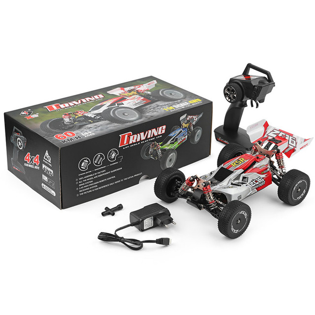 Wltoys 1:14 144001 High Speed Crawler 2.4G 4WD 60km/h Drifting RC Vehicle RC Car Remote Control Car Model Toys w/ 3 Batteries 6