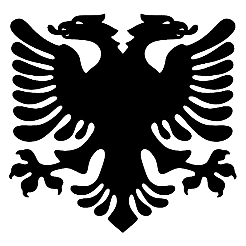CK3256# Albanian Eagle Reflective Funny Car Sticker Vinyl Decal Waterproof Car Auto Stickers Silver/ Black For Bumper