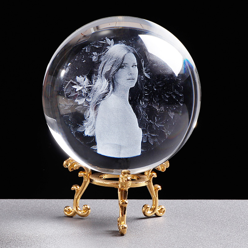 Personalized Crystal Photo Ball Customized Picture Sphere Globe Home Decor Accessories Baby Photo Gift for Girlfriend 7