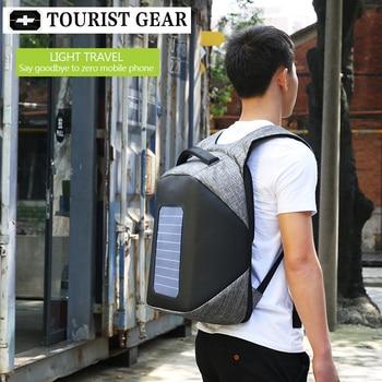10W Solar Powered Designer bagpack men mochila usb charging anti theft backpack Travel 15.6'' laptop backpack women waterproof 5