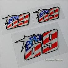 Флаг США Ники Хэйден № 69 стикеры мотоциклетные гоночная Наклейка Шлем superbike Мотокросс наклейка внутреннее автомобильное отражающее автомобилей