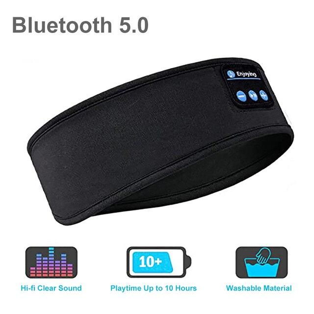 Wireless Bluetooth Sleeping Headphones Sports Headband Soft Elastic Comfortable Music Headset Speakers Hands-free For Running 4