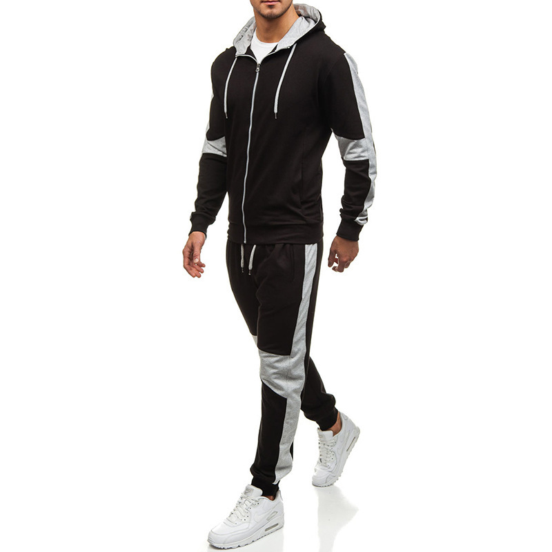 2019 Spring And Autumn New Style MEN'S Casual Suit Zipper Hoodie Sweatpants Loose-Fit Outdoor Fitness Sports Set