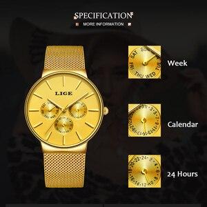 Image 4 - 2020 LIGE قائمة جديدة كاملة الذهب النساء ساعات كوارتز ساعة السيدات العلامة التجارية الفاخرة الإناث ساعة فتاة ساعة Relogio Feminin + صندوق