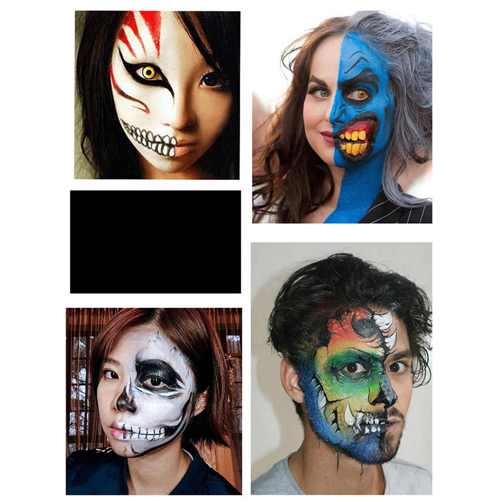 12 Colors Face Body Art Painting Body Paint Oil Painting Tattoo Makeup Cosmetic Bodypainting Halloween Party Aliexpress