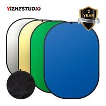 4-em-1 Fundo Dobrável Painel 1.5 m x 2 m Verde Azul Backdrop Foto Refletor Portátil painel de YouTube