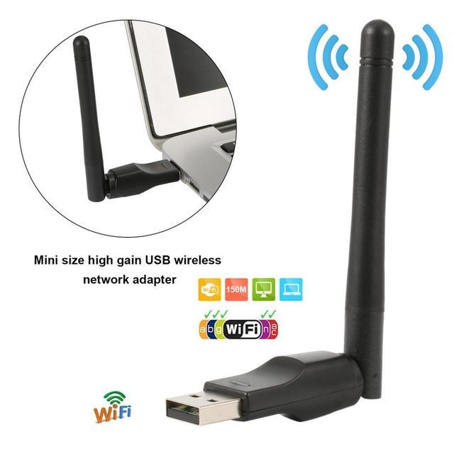 Mini adaptateur Wifi sans fil 150 Mbps 20dBm antenne USB Wifi récepteur carte réseau 802.11b/n/g Wifi Adaptador Mini Dongle WiFi 2