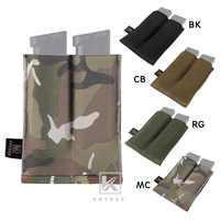 KRYDEX Tactical Double Open Top Magazine Pouch High Speed Fast Draw MOLLE PALS 4 Colors Optional 9mm.45 Pistol Mag Pouch Holster