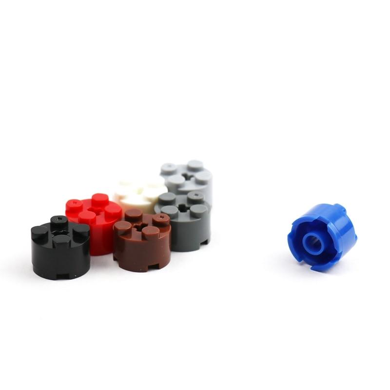 LEGO x 50 Red Brick Round 2 x 2 with Axle Hole